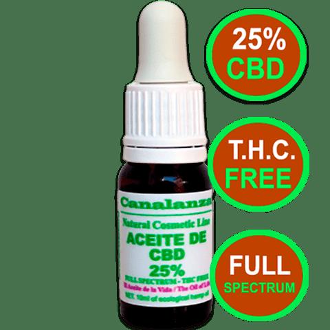 (10ml) 25% full spectrum cbd oil l NO THC Laboratorios canalanza
